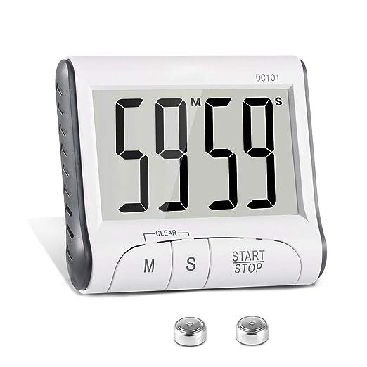 ONEVER Cronómetro de cocina Cronómetro digital Cronómetro de ...