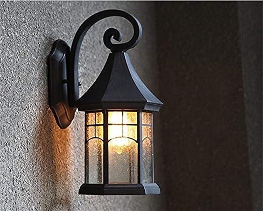 QXX E27 Lámpara De Pared Retro Iluminación Exterior Lámpara De Pared Exterior Jardín Luz Escalera (Color : Schwarz): Amazon.es: Hogar
