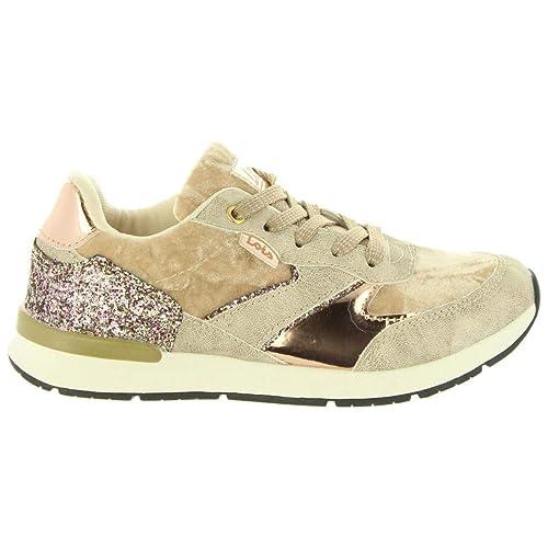 Zapatillas Deporte de Niña LOIS JEANS 83899 57 BEIG: Amazon.es: Zapatos y complementos