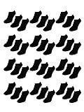 10 bis 50 Paar Comfort Sneaker Socken Schwarz & Weiß Damen & Herren - sockenkauf24