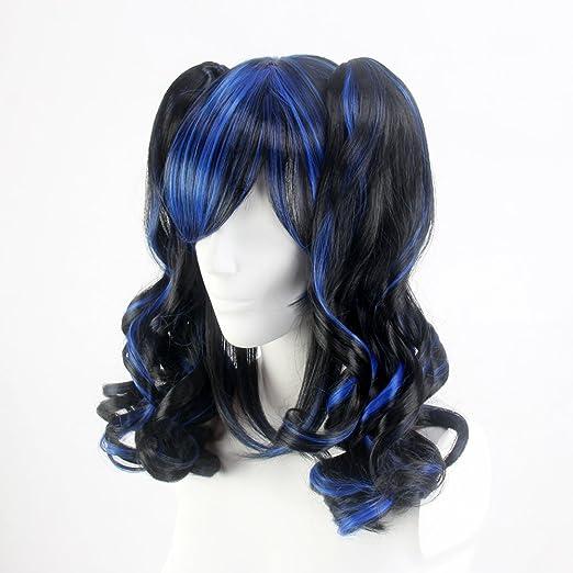 Amazon.com : Stfantasy Wigs for Women Medium Curly Heat Friendly Synthetic Hair 15.5