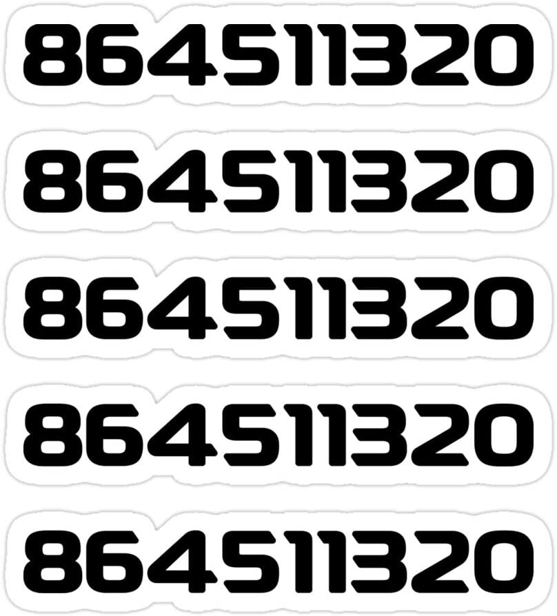 (3 PCs/Pack) 864511320 5 in 1 3x4 Inch Die-Cut Stickers Decals for Laptop Window Car Bumper Helmet Water Bottle