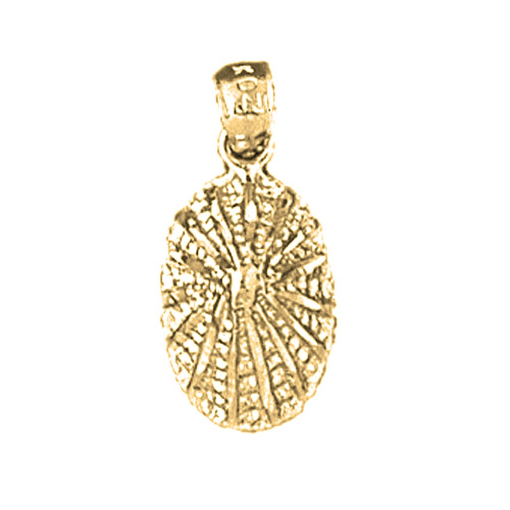 Jewels Obsession Silver Shell Pendant 14K Yellow Gold-plated 925 Silver Shell Pendant