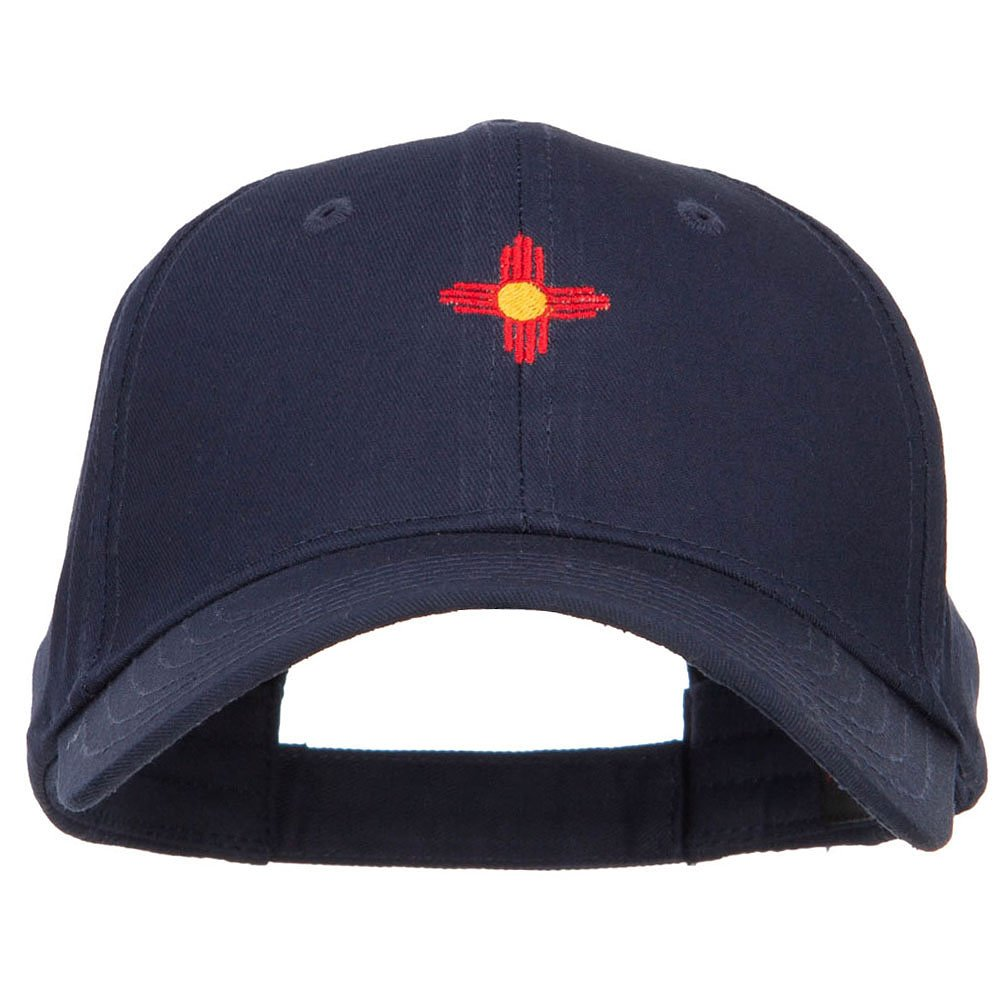 b56697dc9dd E4hats New Mexico Flag Logo Embroidered Low Cap - Navy OSFM at Amazon Men s  Clothing store