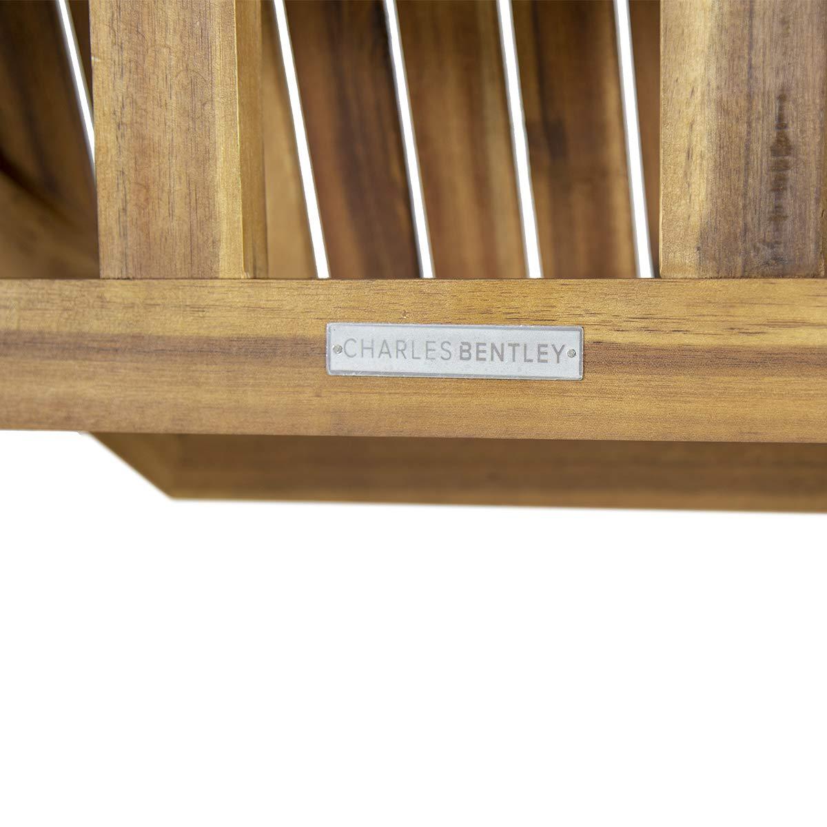 Charles Bentley Tabla Central Octogonal Con Orificio de Parasol Certificada Fsc Acacia Madera - Diseño Clásico