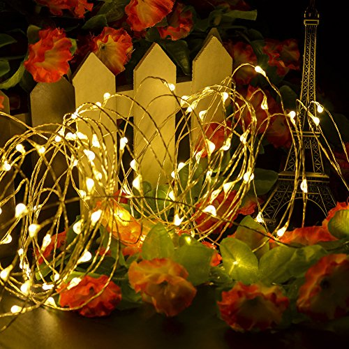 CrazyFire LED String Lights, Fairy String Light 33ft 100 LEDs Waterproof Decorative Starry Lights for Bedroom, Patio, Parties (Copper Wire Lights, Warm White) by CrazyFire (Image #6)