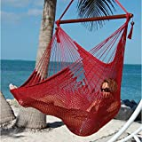 Caribbean Hammocks Large Chair with Footrest - 48 Inch - Polyester - Hanging Chair