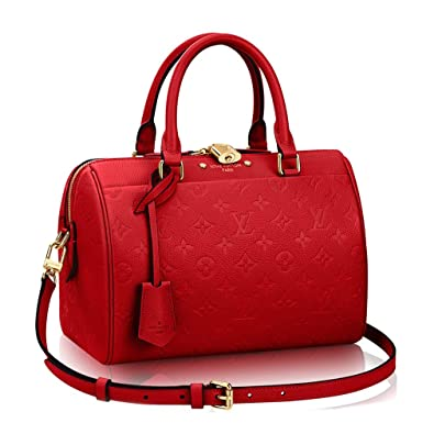 0bc680ab57b2 Louis Vuitton Monogram Empreinte Leather Speedy Bandouliere 25  Article M42399 Made in France  Handbags  Amazon.com