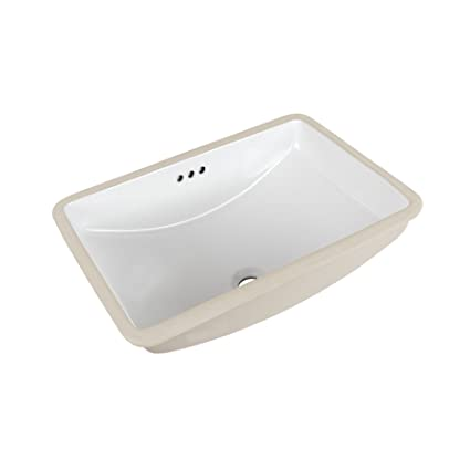 MAYKKE Bristol Ceramic Undermount Bathroom Vanity Sink in White ...