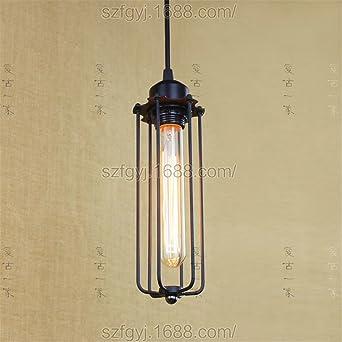 SADASD Lámpara de techo colgante de hierro forjado estilo ...