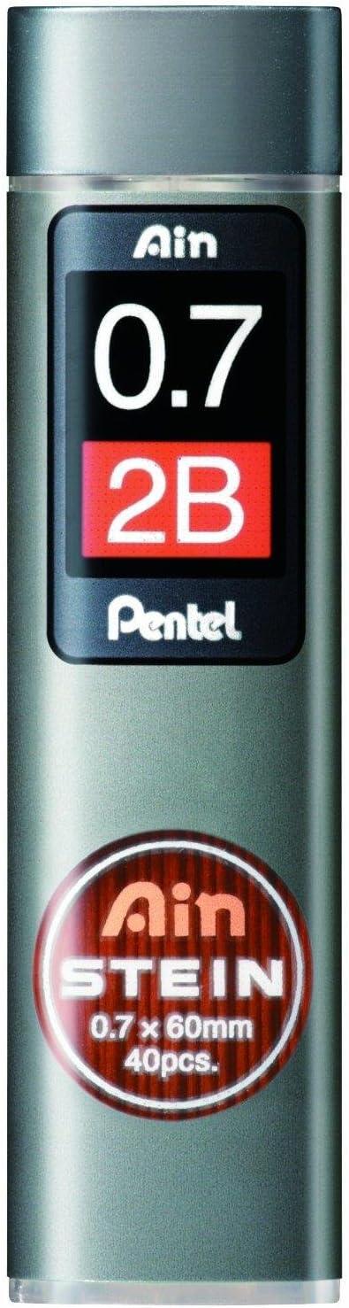 Pentel Ain Recambio minas de l/ápiz 0.7mm 2b Paquete NUEVO