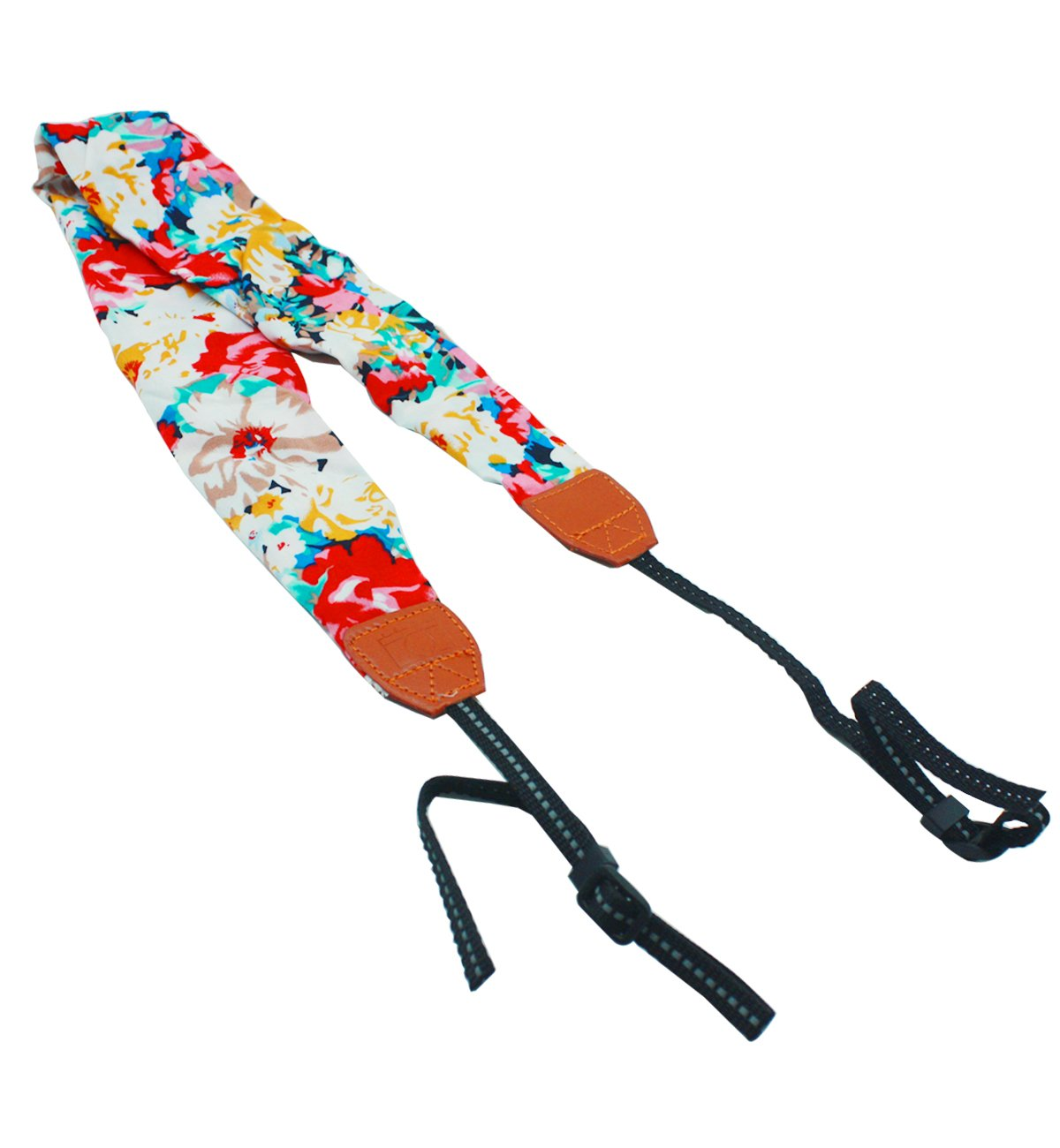 CEARI Floral Scarf DSLR Camera Neck Strap for Canon Nikon Sony Olympus Fujifilm Digital Camera