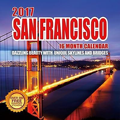 2017 San Francisco Calendar - 12 x 12 Wall Calendar - 210 Free Reminder Stickers