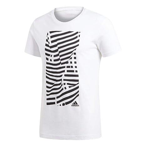 110a459f Amazon.com : adidas 2018-2019 Juventus Graphic T-Shirt (White ...