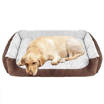 Amazon.com: WILLNORN Cama para perros grandes con funda ...