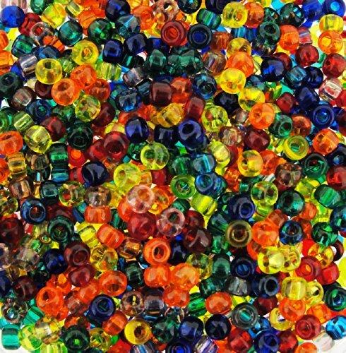 Miyuki Round Seed Beads Size 8/0 22g Rainbow Mix