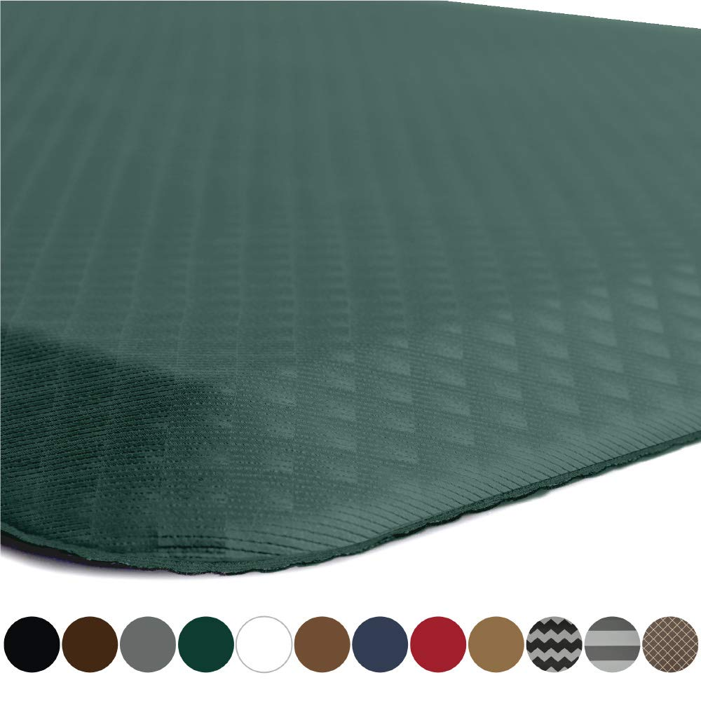 "Kangaroo Brands Original 3/4"" Anti-Fatigue Comfort Standing Mat Kitchen Rug, Phthalate Free, Non-Toxic, Waterproof, Ergonomical Floor Pad, Rugs for Office Stand Up Desk, 32x20 (Hunter Green)"