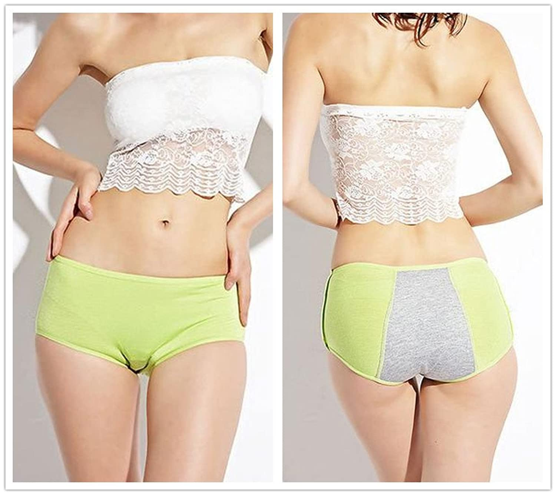2 Pcs Packed Girl Women menstrual period Briefs Panties Underpants Underwear M-3XL
