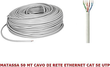 MATASSA 100 MT METRI CAVO DI RETE UTP CAT 5E LAN ETHERNET M BOBINA 5 E INTERNET