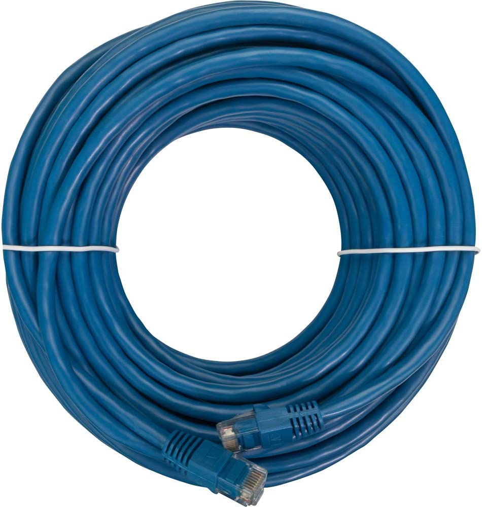 NavePoint CAT5e UTP Ethernet Network RJ45 Snagless Patch Cable 75 Ft Blue