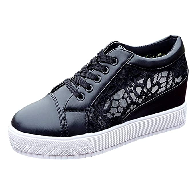 Womens Walking Sneakers Casual Breathable Mesh Lace Up