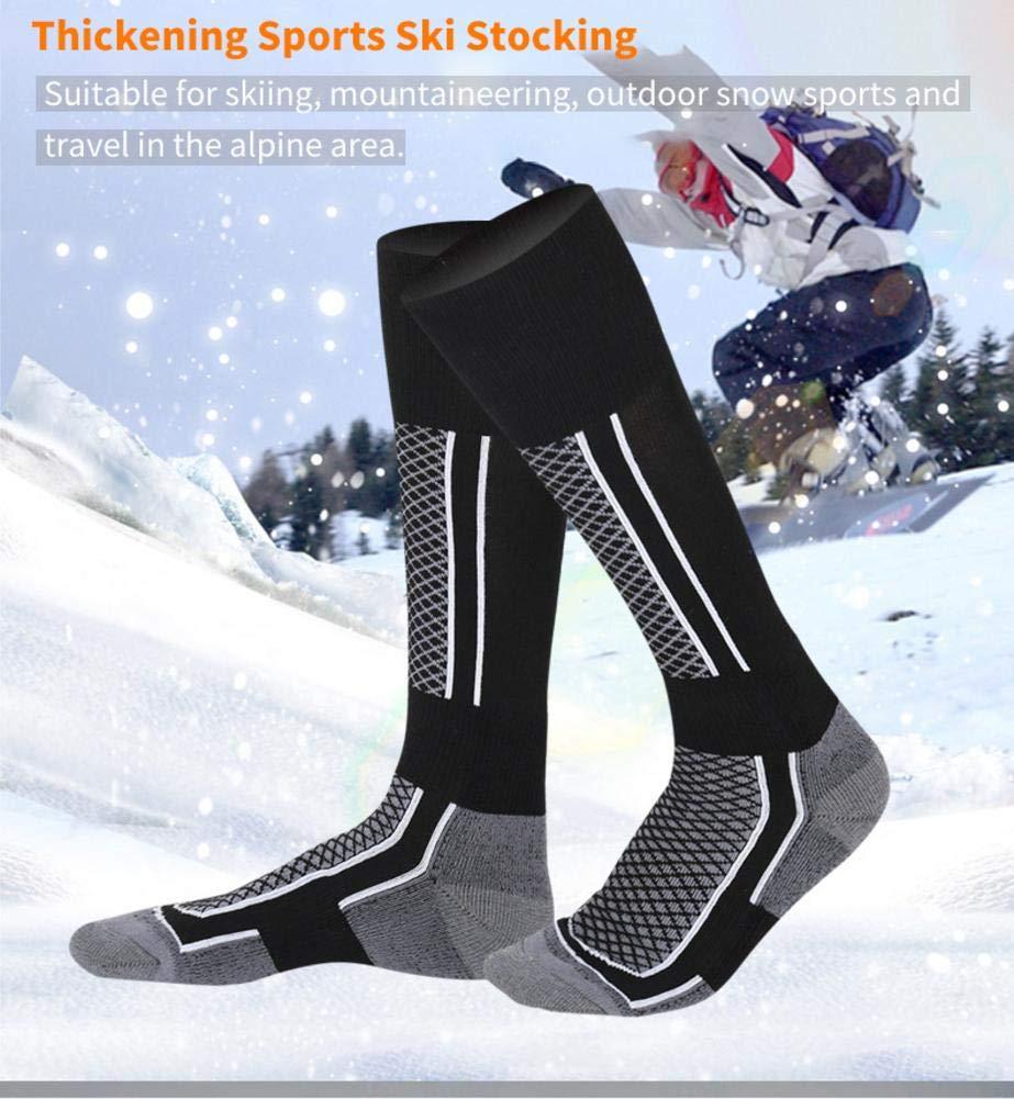 Calcetines largos de esquí,medias de los hombres del deporte al aire libre para el otoño y el invierno que caminan, señoras que engrosan los calcetines ...