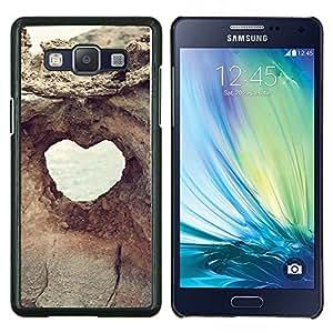 TECHCASE---Cubierta de la caja de protección para la piel dura ** Samsung Galaxy A5 ( A5000 ) 2014 Version ** --Estructura del corazón Vista Acantilado Agujero