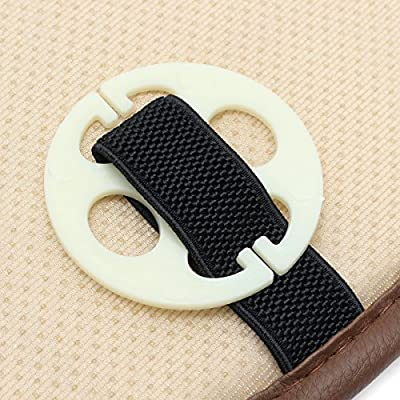 K&A company Universal 3D Breathable PU Leather Car Seat Cover Pad Mat for Auto Chair Cushion, Coffee