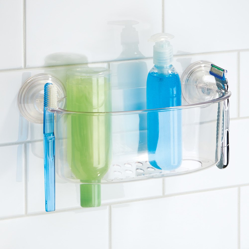 Amazon.com: InterDesign Power Lock Suction Bathroom Shower Caddy ...