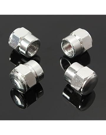 4 tapones antipolvo de aluminio para válvulas de neumáticos de coches, motos, camiones,