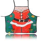 charmsamx Christmas Apron Cute Elf Leg Santa Claus