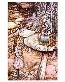Alice in Wonderland Caterpillar art print Poster - 11x14 Poster Print by Arthur Rackham, 11x14