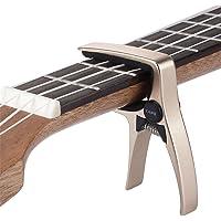Mini 4 String Guitar Capo, Professional Ukulele Capo (Gold)