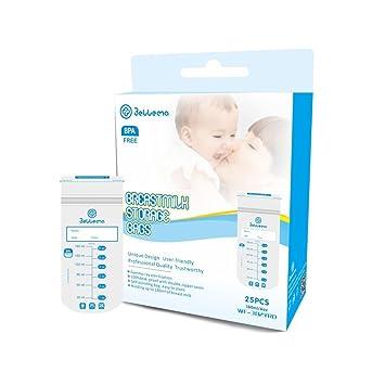 Amazon.com: bellema bolsas para leche materna, 6 Onza, 25 ...