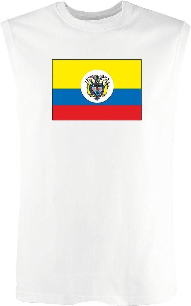 Singlete para los Hombre Blanco TM0181 Colombia Flag: Amazon.es: Ropa y accesorios