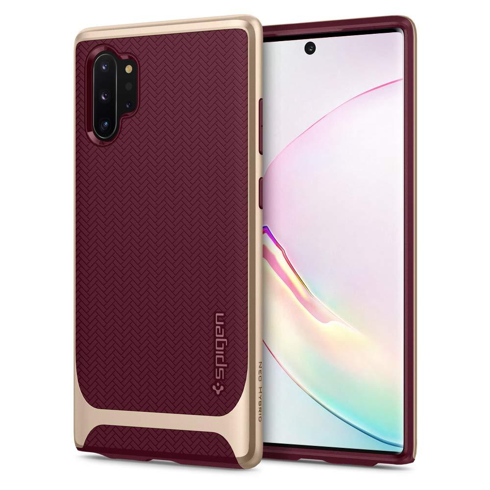 Funda Spigen Neo Hybrid Para Samsung Note 10 Plus Burgundy