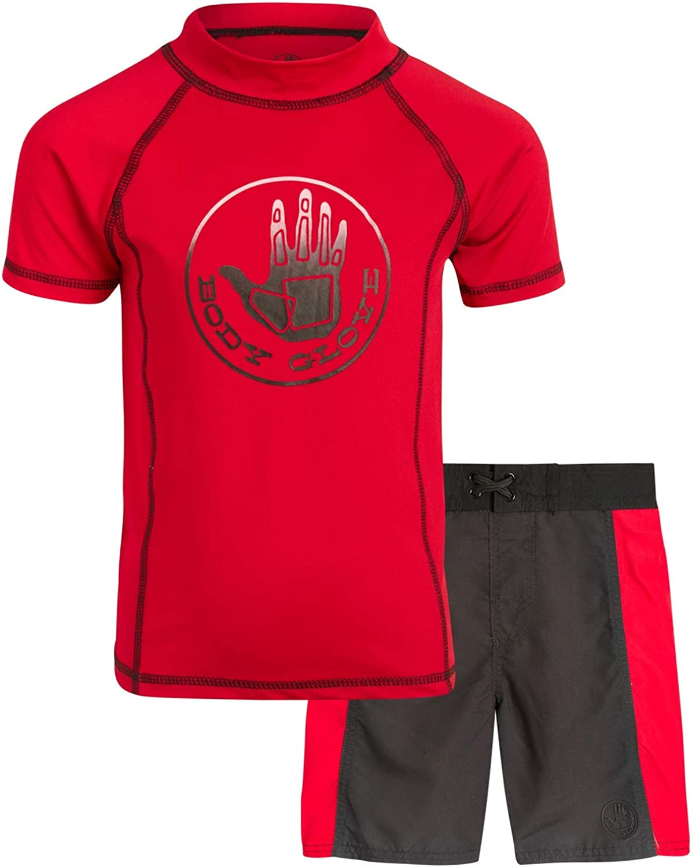 Rash Guard Swimsuit Set Body Glove Baby Boys 2-Piece UPF 50 Toddler Boys