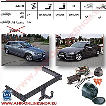 Ahk Towbar 13 Pin Wiring Kit For Audi A4 Estatehatchbackcoupe 2008