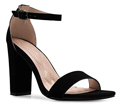 94cc7901113 Amazon.com  OLIVIA K Women s Strappy Chunky Block High Heel - Formal ...