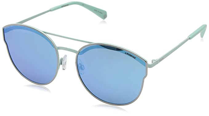 Fine Metal Cateye Sunglasses in Ruthenium Blue Mirror Polarised PLD 4056/S 6LB 58 Polaroid Buy Cheap Professional B22YmR