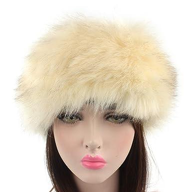 80b635280be77 DOSOMI Winter Warmer Bomber Hats Women Faux Fluffy Fox Fur Hat Fashion  Headband Russian Thick Ears