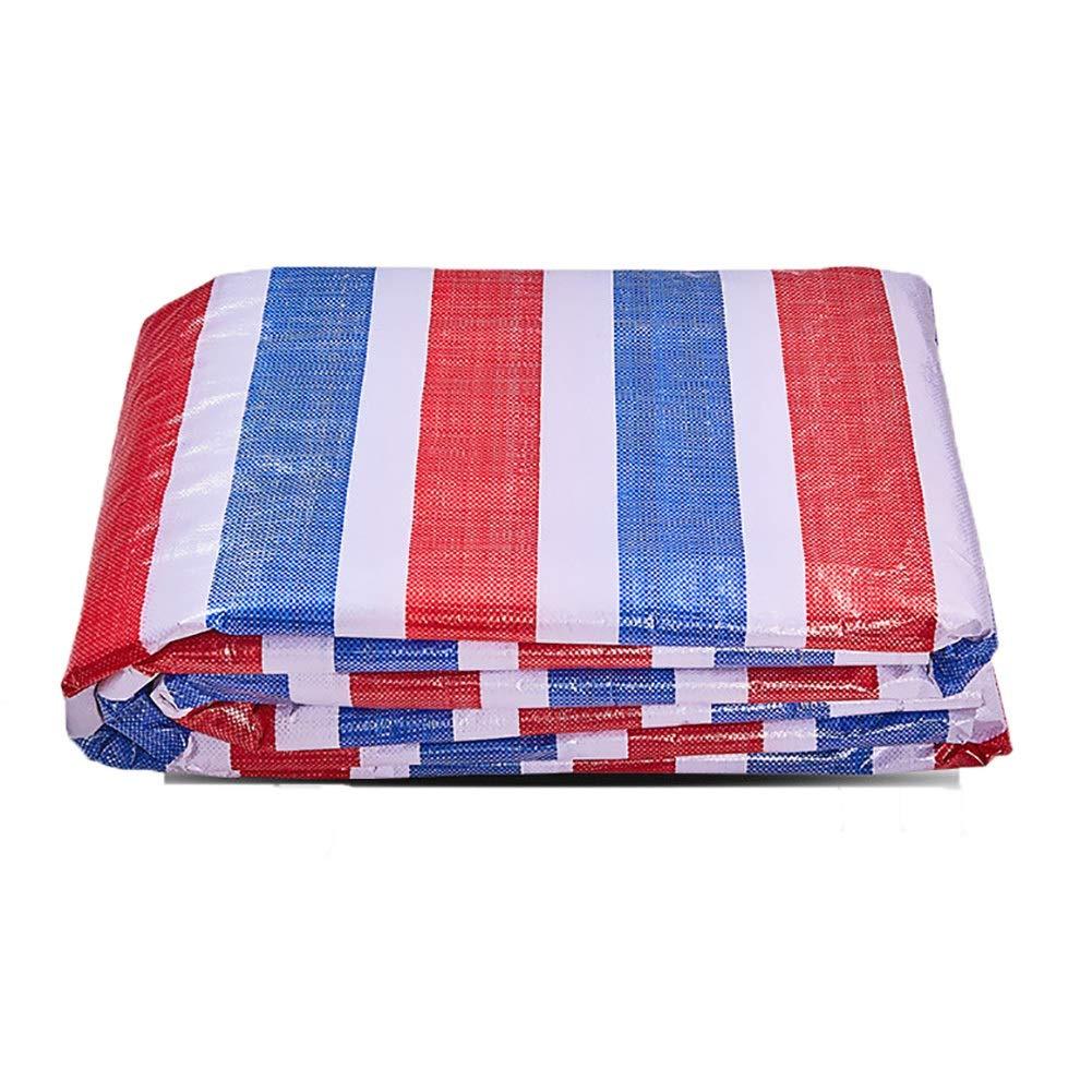 Plane Farbstreifen Tuch Wasserdicht Tuch Regen Tuch Kunststoff Tuch DREI-Farben-Tuch Markise Sonnenschutz Tuch (extra dick)