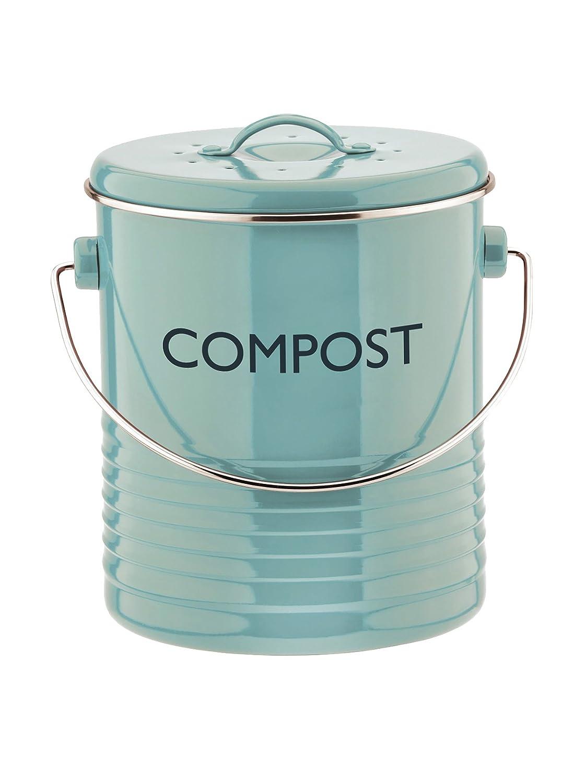 Amazon.com: Typhoon Summer House Blue Compost Caddy, 2.6-Quart ...