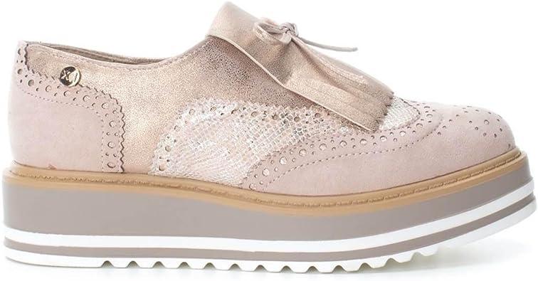 XTI 046708, Zapatos de Cordones Oxford para Mujer, Rosa