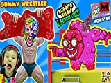 gummy bears show - Gummy Wrestler Fights Giant Gummy Bear