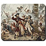: Blackbeard Pirate Northwest Atlantic Edward Thatch Teach Codex Queen Anne's Revenge Captain Maynard Painting - Mouse Pad / Mousepad