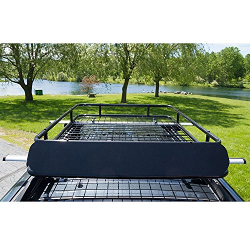 Apex Steel Roof Cargo Basket with Wind Fairing by Apex (Image #1)