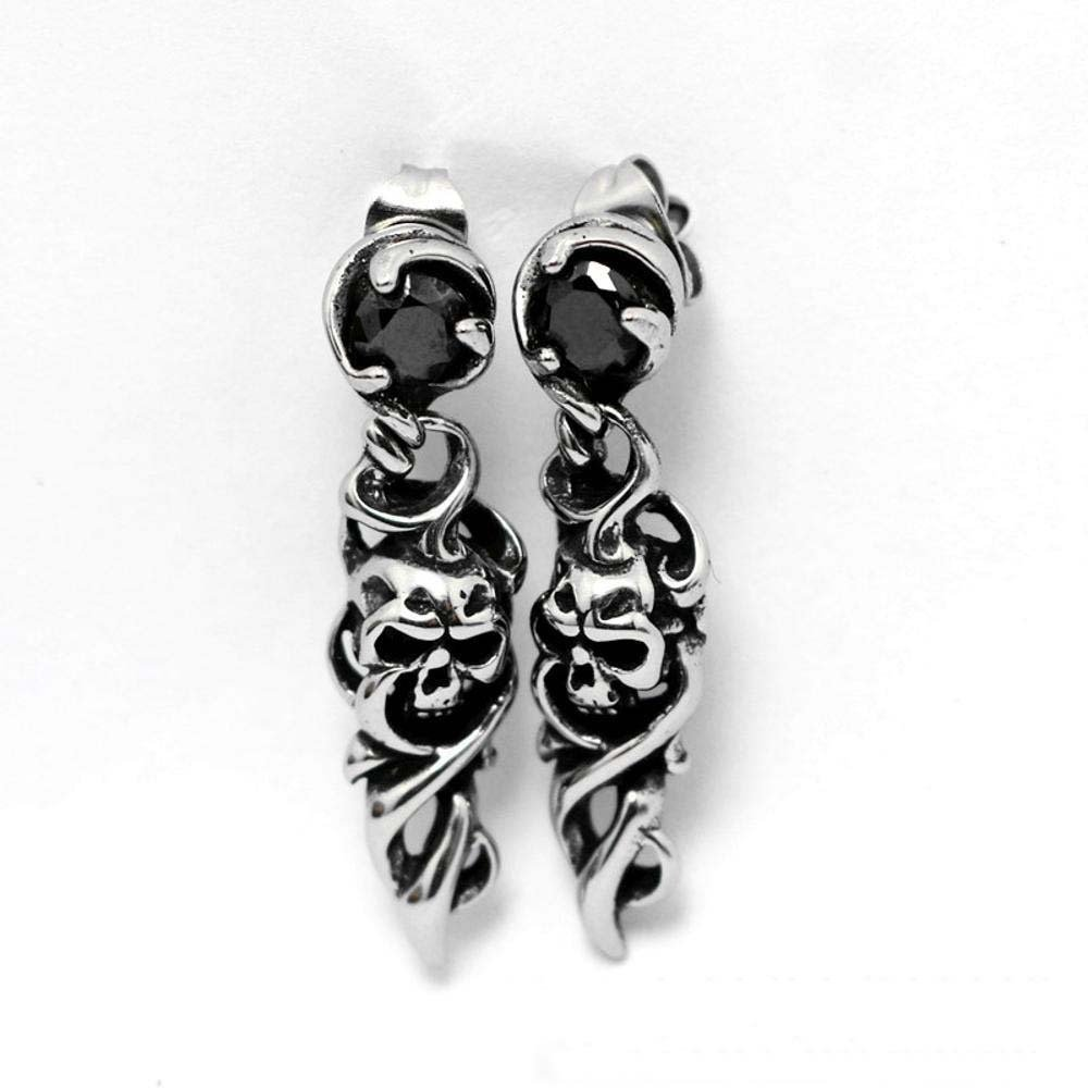 Ludage Earrings, Stainless Steel Earring Earrings Male and Female Universal Skull and Ear Nail Allergy 5mm5mm