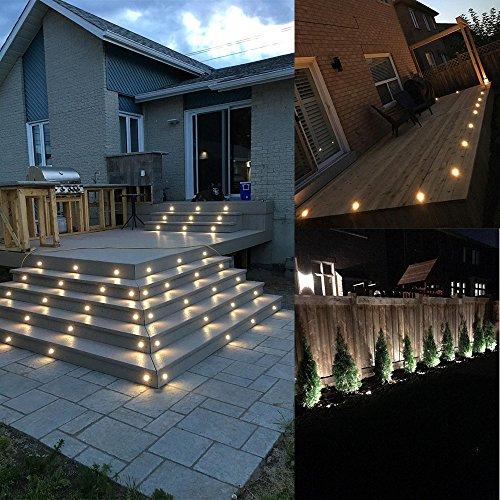 Jennyshop 10pcs Diam.18mm Stainless Steel LED Deck Light Kit Landscape Recessed Lighting Blue Light Patio Home Garden Floor Steps Stair Yard Lights,Waterproof IP67 by Jennyshop (Image #7)