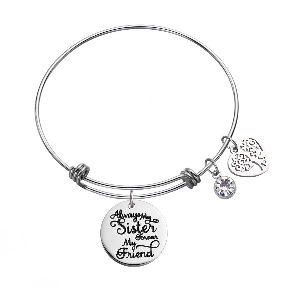 LIUANAN ot Sisters by Blood But Sisters by Heart Cuff Bangle